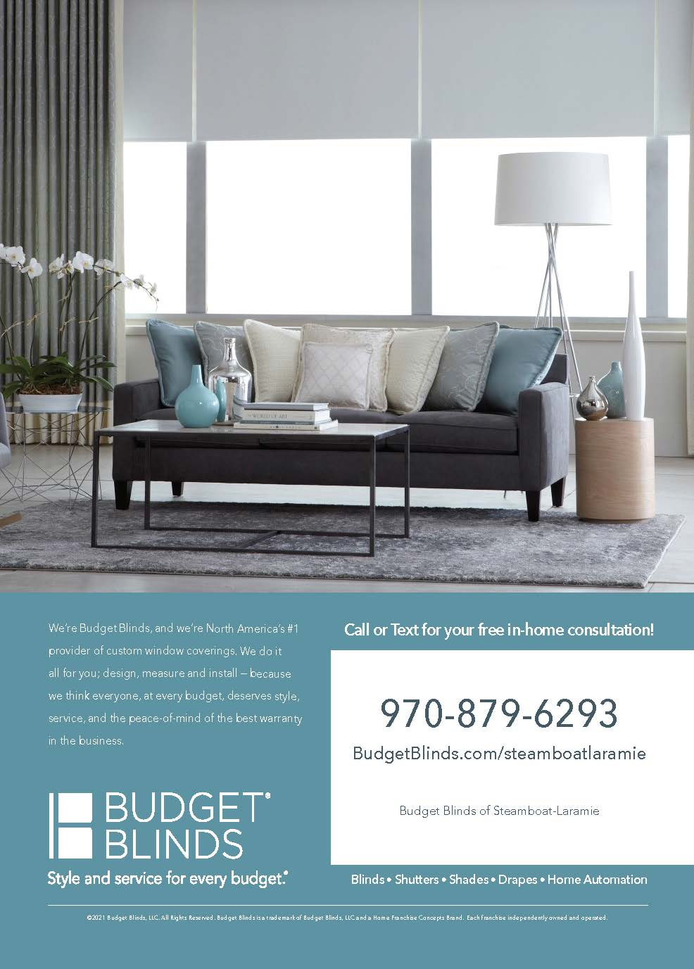 ad for Budget Blinds