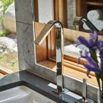 photo of modern faucet