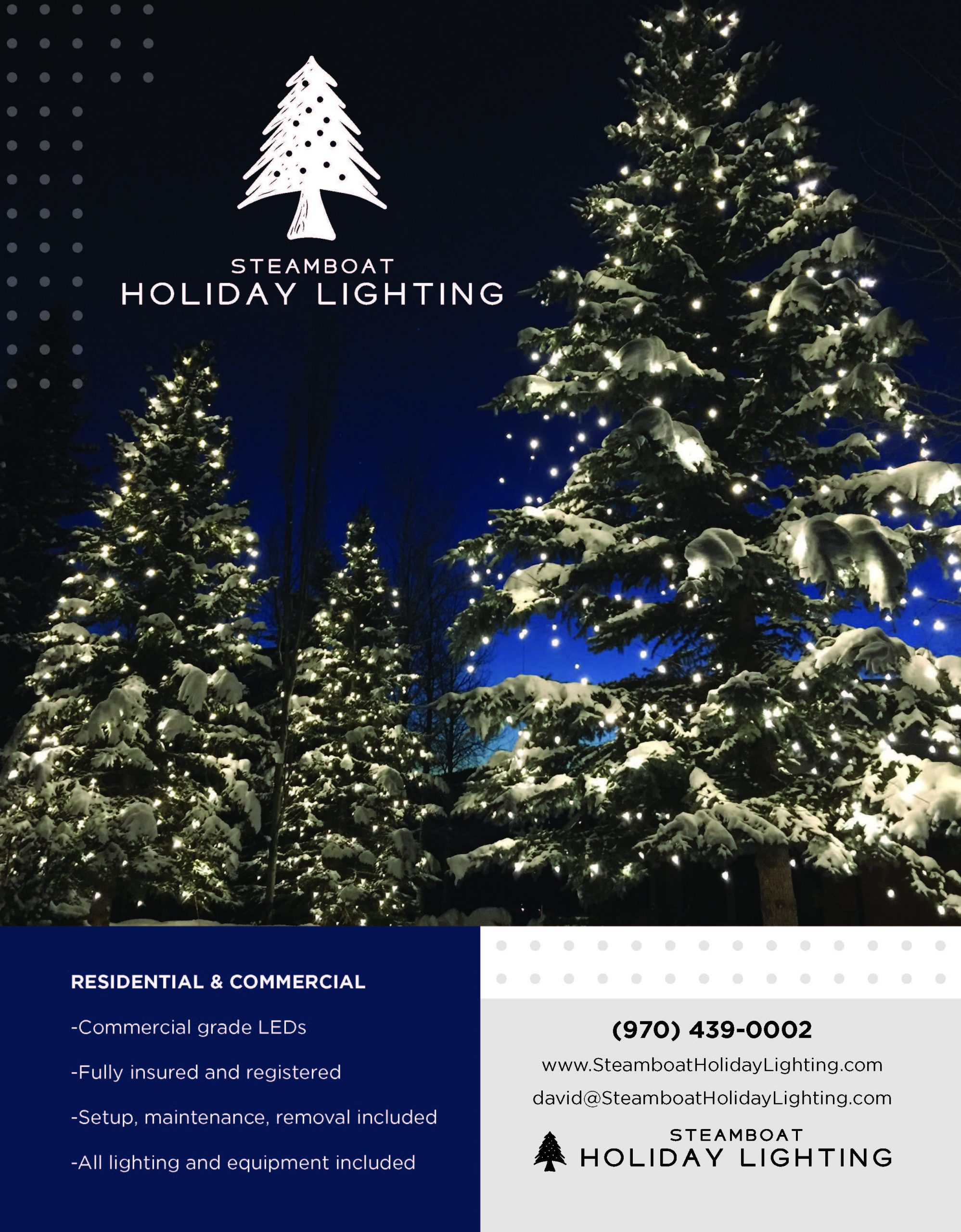 ad for Steamboat Holiday Lighting